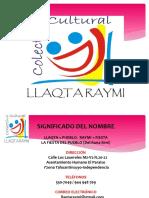 Presentacion Asociacion Llaqtaraymi 2017