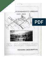 1. Plan de Ordenamiento Urbano 2003-2020
