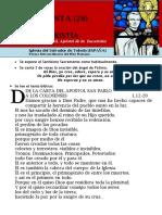 HORA SANTA Con San Pedro Julián Eymard. El Triunfo de La Eucaristía (28)
