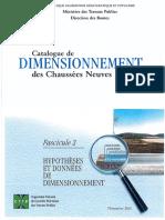 Catalogue de Dimensionnement Des Chaussées Neuves F 02