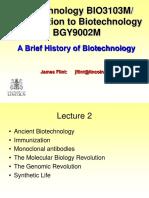 Biotechnology- History of Biotech