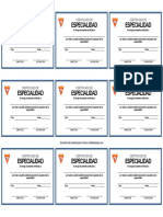 Certificados de Especialidad