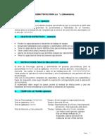 Protocolo o Parametrizacion