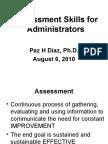 Paz H Diaz Assessment Skills for Administrators for Workshop