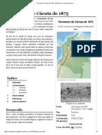 Terremoto de Cúcuta de 1875 - Wikipedia, La Enciclopedia Libre