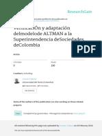 VerificaciOn y Adaptacion Delmodelode ALTMAN a La
