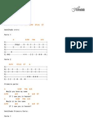 Lyrics tears in chords pdf and heaven TEARS IN