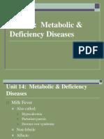 Unit 14 Metabolic & Deficiency Diseases