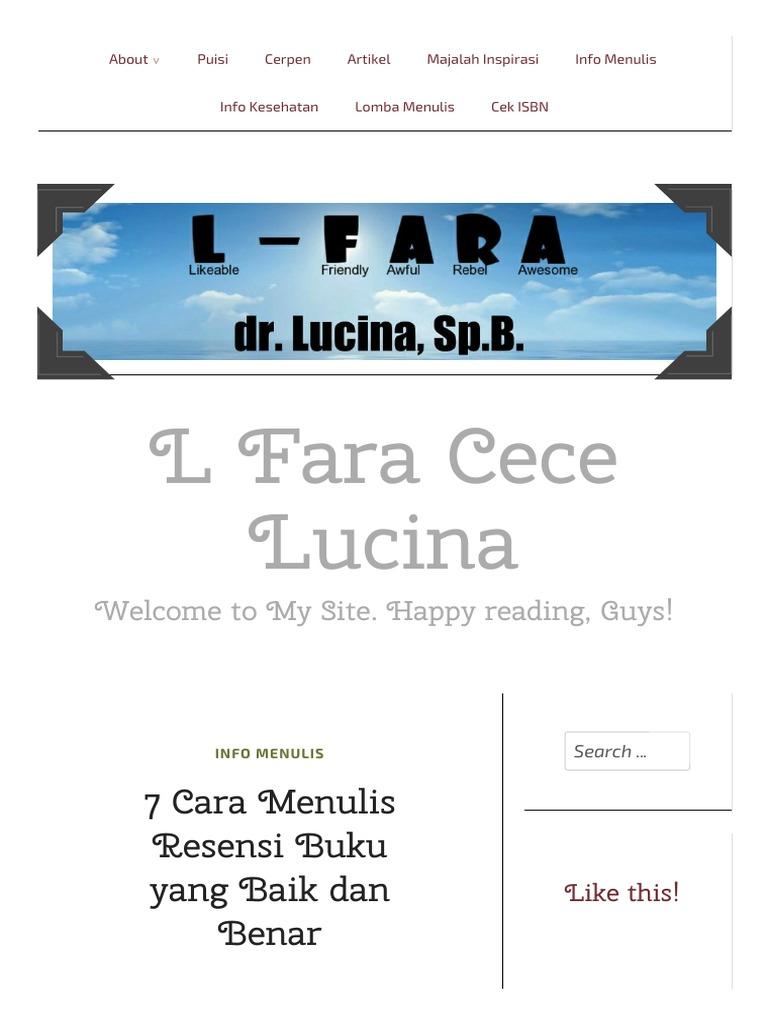 Fine Cara Membuat Resensi Buku Dalam Bahasa Inggris Images - The ...