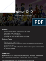 Digimon DnD Starter Manual