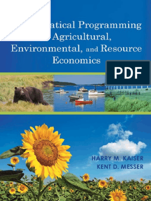 MATHEMATICAL PROGRAMMING FOR AGRICULTURAL, ENVIRONMENTAL