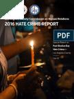 Hate Crime Report 2016