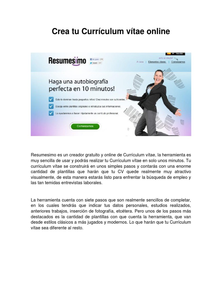 Atractivo Es Un Creador De Currículums Realmente Gratuito Friso ...