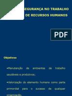 AULA 7 NR8 - A Segurança Do Trabalho Na Gestão de Recursos Humanos