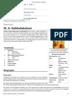 M S Subhalakshmi