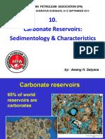 10. Carbonate Reservoirs Sedimentology & Characteristics