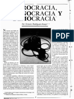 Burocracia, Tecnocracia y Democracia