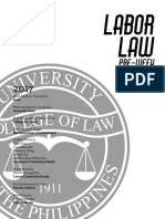 Labor Law Pre Week 2017