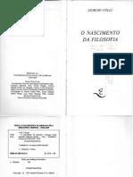 COLLI, Giorgio. O nascimento da Filosofia.pdf