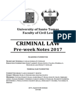 UST Criminal Law 2017 - Preweek Final