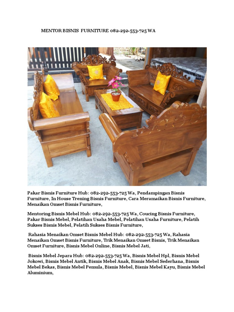 Trik Sukses Bisnis Furniture Hub 082 292 553 725 Wa