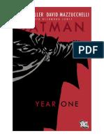 Batman Year One PDF