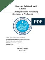 Informe 1 Termodinamica Aplicada 2