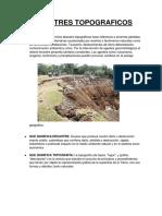 DESASTRES TOPOGRAFICOS INFORME