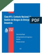 Clase 1 - Emergencias y Desastres