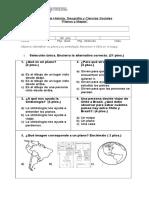 Evaluación Planos y mapas 1° básicos 2017