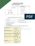 Cuestionario de Algebra Tercero Bachillerato.