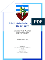 Inside the Water Department - Civil Administration Quarterly (Mar. 2010)
