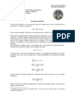 ecuaciónes cuadráticas