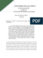 Em Torno Do Sujeito e Dos Processos de Sujeição Em Althusser Foucault e Judith Butler