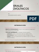 Materiales Fotovoltaicos - Ceir Sanchez