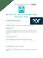 Instituto Nacional de Investigaciones Nucleares ININ Becas