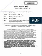 Confidential and Privileged Attorney Memo Re Conflict of Interest Issues (Nov 8 2017)