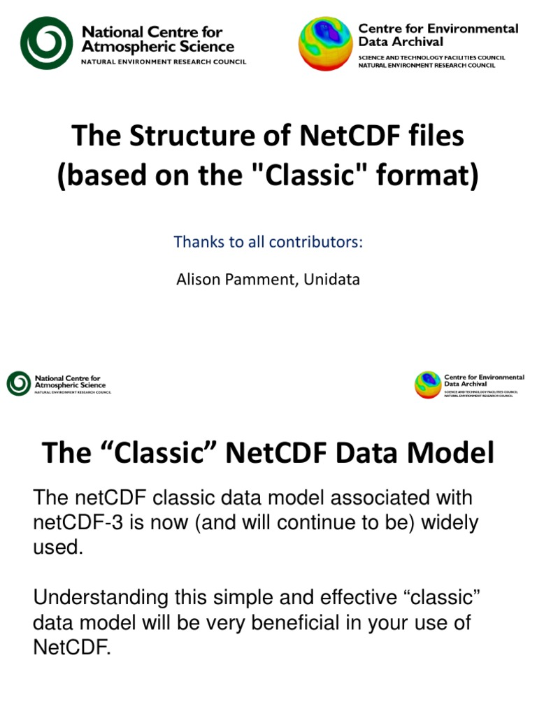 06 Netcdf Structure | Variable (Computer Science) | Scientific Modeling