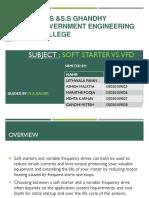 Soft Starter vs VFD Ppt