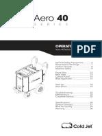 Aero40 Operator Manual