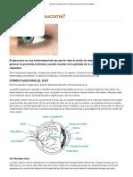 ¿Qué Es El Glaucoma