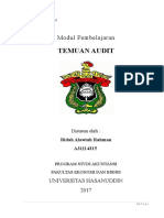 Modul 7 - TEMUAN Audit Internal