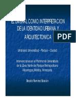 El Umbral Como Interpretacion de La Identidad Urbana y Arquitectonica Beatriz Ramirez