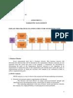 Assignment 1 - Marketing Management