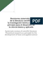 Revisiones Sistemáticas de La Literatura Científica - U. Cooperativa de Col. 2016