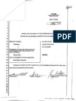 Order Denying Petition for a Writ of Mandate - Kelley Lynch Petitioner v. the La Superior Court (3)