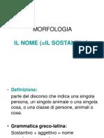 Morfologia Il Nome 1