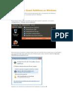 Virtualizacion Instalación de Guest Additions en Windows