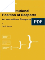 The Institutional Position of Sea Ports - An International ion