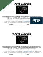 Tag Day Ticket Voucher